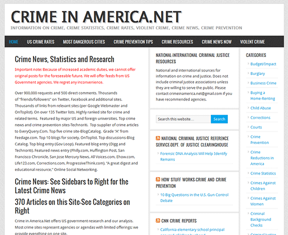Crime in America: the name says it all
