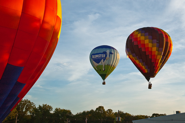 QuickCheck NJ Balloon Fest 2010 - I didn't go to the festival, but a bunch of balloons flew by and some landed right in front of our building in the day. QuickCheck NJ Balloon Fest 2010 - I didn't go to the festival, but a bunch of balloons flew by and some landed right in front of our building the last day.