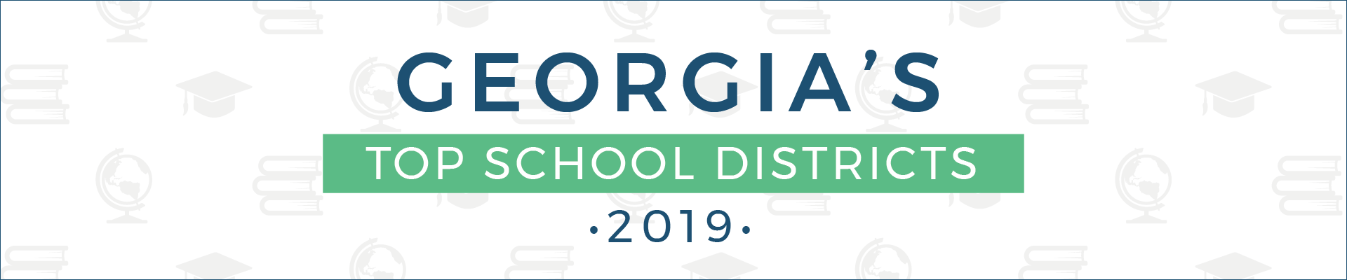 top school districts, 2019 - georgia - banner