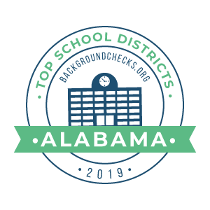 bc top school districts, 2019 - alabama - badge
