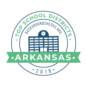 bc top school districts, 2019 - arkansas - badge