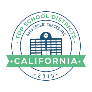 bc top school districts, 2019 - california - badge