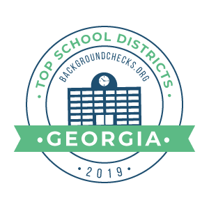 bc top school districts, 2019 - georgia - badge