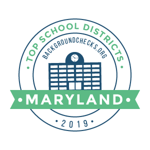 bc top school districts, 2019 - maryland - badge