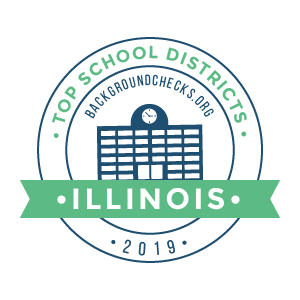 bc top school districts, 2019 - illinois - badge