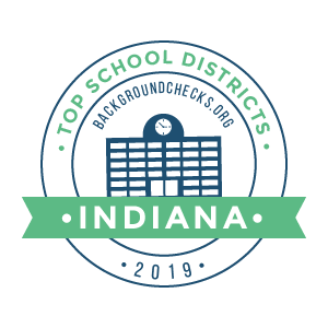 c top school districts, 2019 - indiana - badge