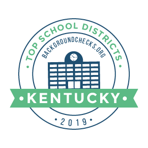 bc top school districts, 2019 - kentucky - badge