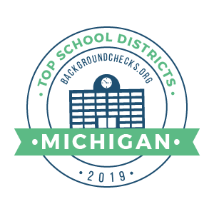 bc top school districts, 2019 - michigan - badge