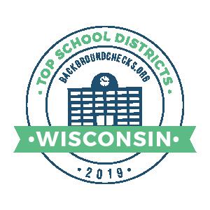 bc top school districts, 2019 - wisconsin - badge