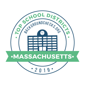bc top school districts, 2019 - massachusetts - badge