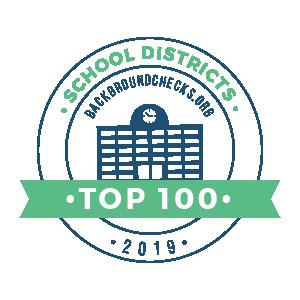 top school districts badge