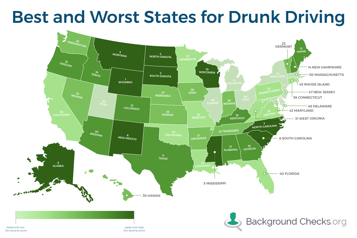 best and worst states for drunk driving